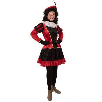 Foto van Piet jurkje met petticoat rood