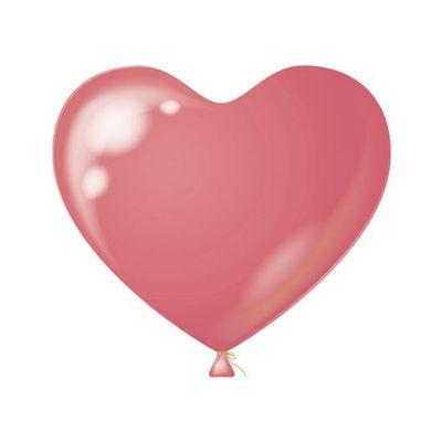 Foto van Hart Ballon roze (100 stuks)