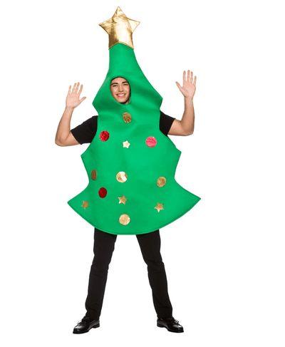 Kerstboom kostuum (gouden piek)