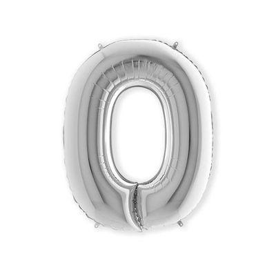 Folieballon letter O zilver XL (100cm)