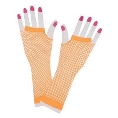 Foto van Net handschoenen neon oranje