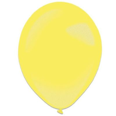 Ballonnen yellow sun metallic (28cm) 50st
