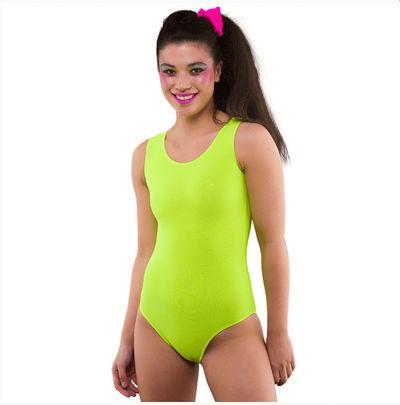Neon body geel
