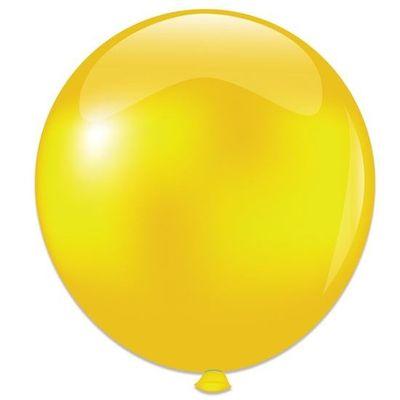 Topballon metallic geel (91cm)