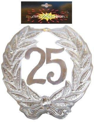 Afbeelding van Jubileumkrans 25 jaar plastic (40 cm)