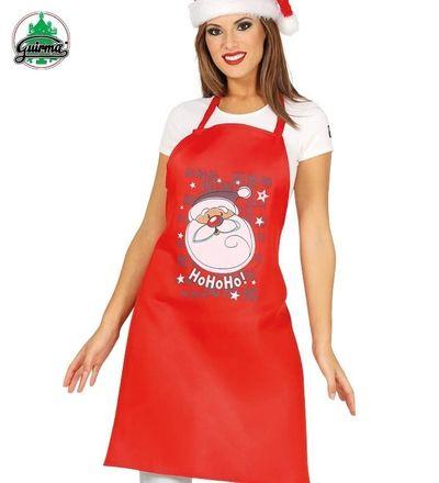 Rood kerst schort