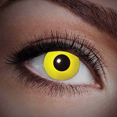 Foto van UV jaarlenzen geel