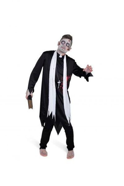 Zombie priester kostuum
