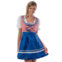 Heidi jurkje rood-wit-blauw