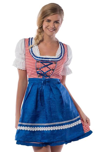 Oktoberfest jurkje rood-wit-blauw