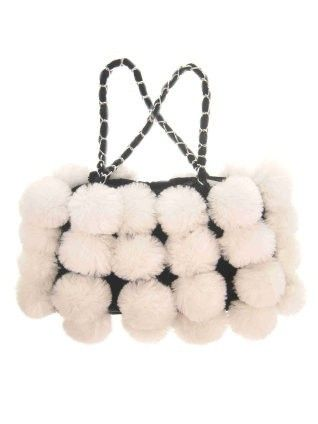 Handtas witte bollen
