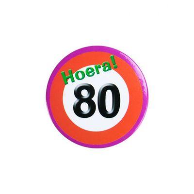 Foto van Button Verkeersbord 80 jaar