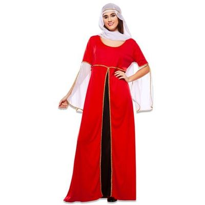 Middeleeuwse rode jurk