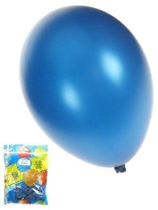Ballonnen Metallic Blauw 50st