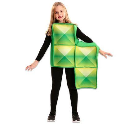 Tetris kostuum groen kind