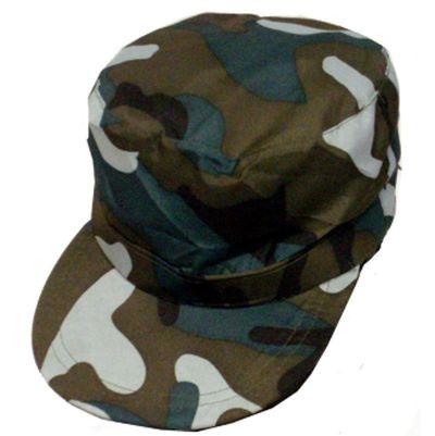 Legerpet camouflage verstelbaar