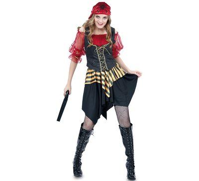 Piraten jurkje - rood