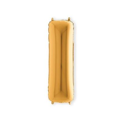 Foto van Folieballon letter I goud XL (100cm)
