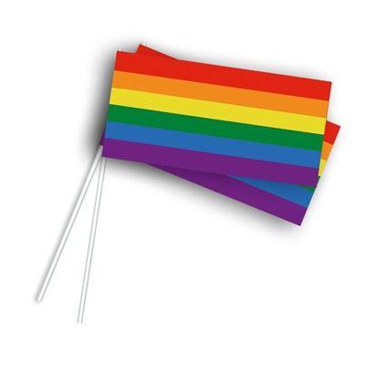 Foto van Zwaaivlaggetjes regenboog