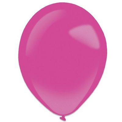 Ballonnen hot pink metallic (35cm) 50st