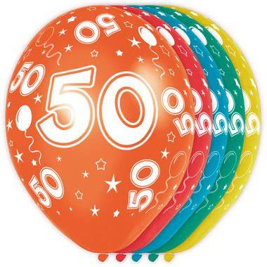 Foto van Leeftijd ballonnen 50 jaar 5 stuks