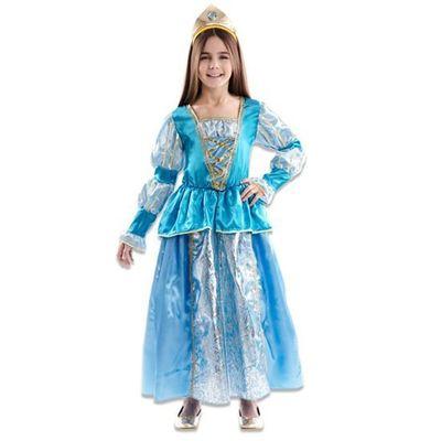 Foto van Prinsessenjurk blauw