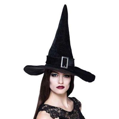 Foto van Zwarte heksenhoed met gesp