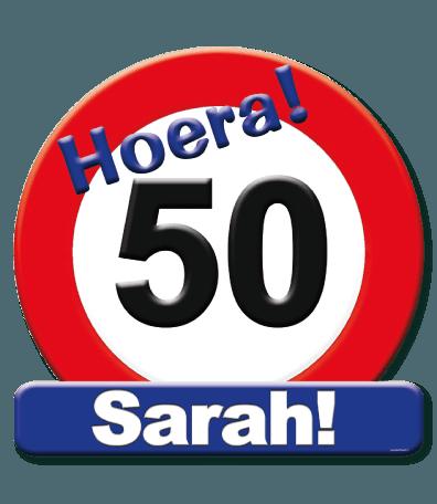 Hulde schild Sarah