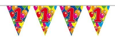 Vlaggenlijn balloons 1 jaar 10m/stk