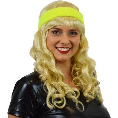 Zweet hoofdband neon geel