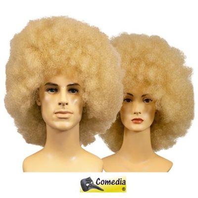 Theaterpruik Afro blond kanekalon