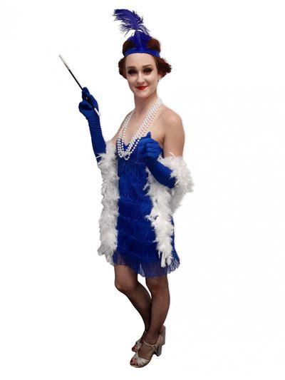 Jaren 20 jurkje blauw