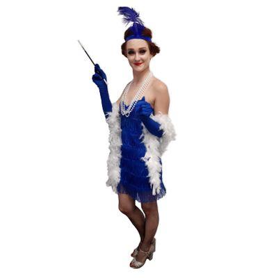 Foto van Jaren 20 jurkje blauw