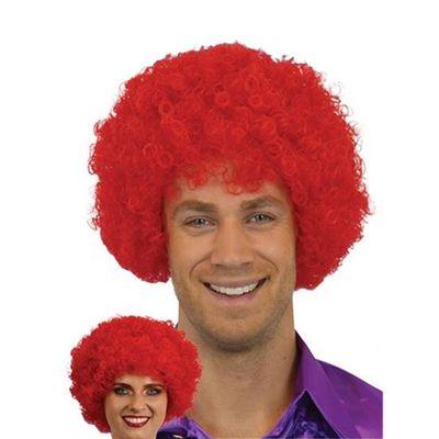 Afro pruik mini rood