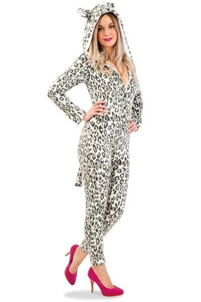 Luipaard onesie dames