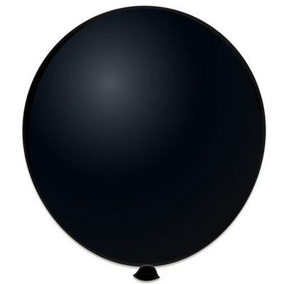 Foto van Topballon zwart 91CM (6 stuks)