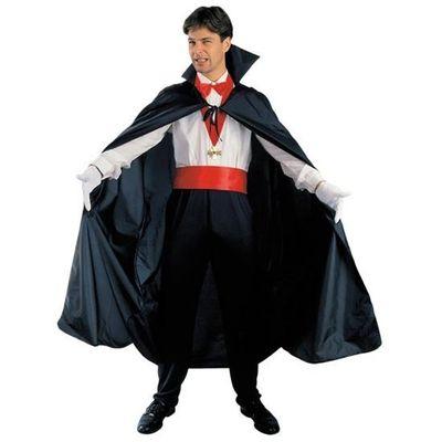 Zwarte cape met kraag