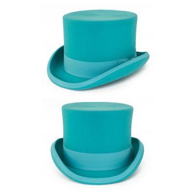 Foto van Hoge hoed wol Turquoise