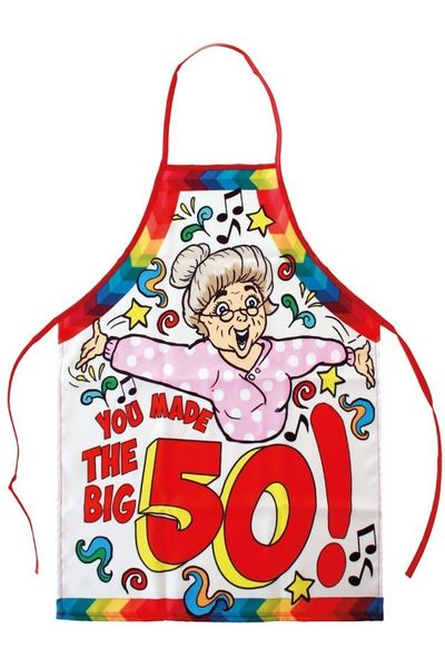 Keukenschort Sarah you made the big 50