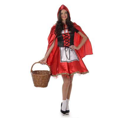 Foto van Roodkapje kostuum deluxe
