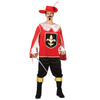 Afbeelding van Musketier kostuum heren - rood