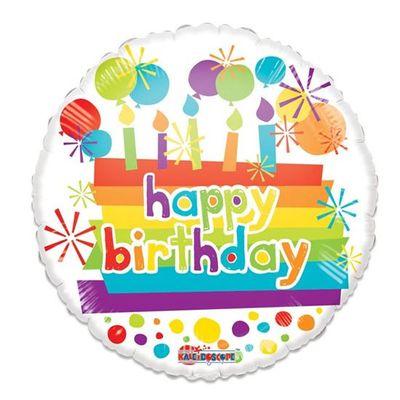 Folieballon Happy Birthday Candles