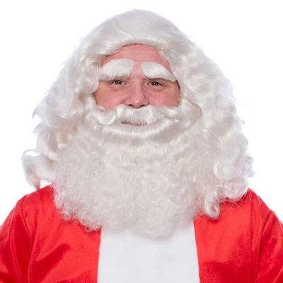 Kerstman baardstel deluxe