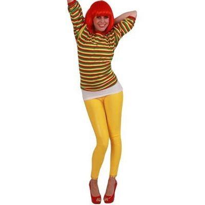 Foto van Gestreepte trui rood geel groen