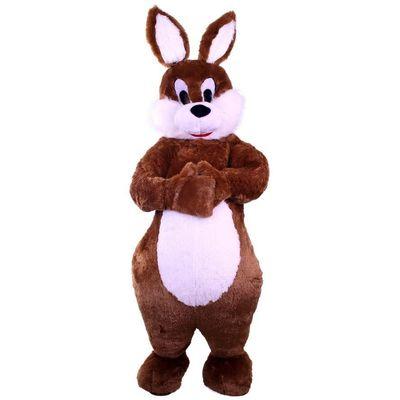 Mascotte konijn kostuum bruin unisex one size