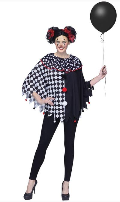 Halloween poncho horror clown