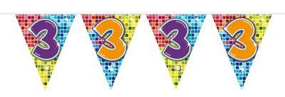 Mini Vlaggenlijn Bday Blocks 3 jaar