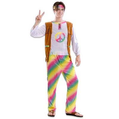 Hippie kostuum regenboog