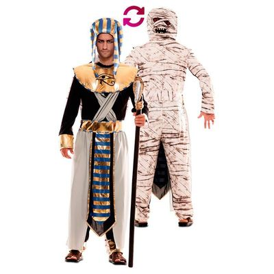Foto van Double fun! Farao en mummie kostuum