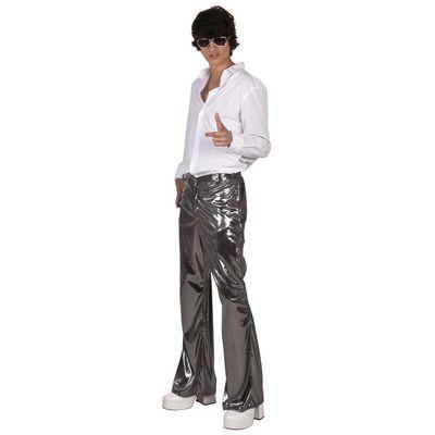 Foto van Disco broek zilver heren